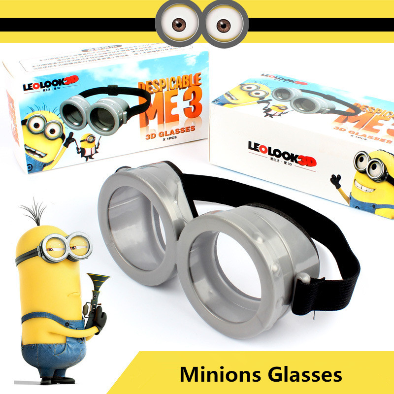 2016 Newest Minions Toys Cartoon Interesting Despicable Me 2 Minions Glasses Flash Mask Cosplay Kids Toys Halloween Gifts(China (Mainland))