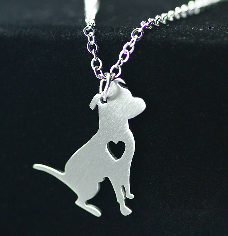 2016 Manufacturers selling new bulldog pendant Collarbone chain necklace Han edition fashion stainless steel animal dog necklace(China (Mainland))