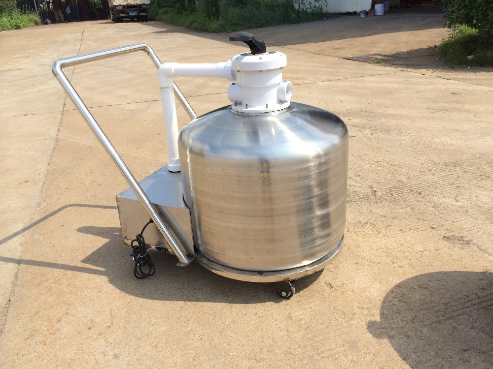 PORTABLE Support Pools Swimming pool filtration stainless steel Sand Filters(China (Mainland))