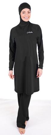 Stock new design of black with printing moslim women swimwearОдежда и ак�е��уары<br><br><br>Aliexpress