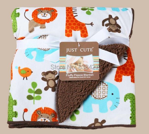 High quality plush baby blanket newborn swaddle wrap Super Soft baby nap receiving blanket animal manta bebe cobertor bebe(China (Mainland))