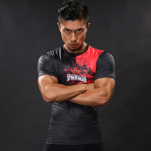 Buy Superhero 3D Printed Compression Spider-Man Tee Shirt T-shirts Short Sleeve Fitness BodyBuilding Men Crossfit Tops Tight Workout for $8.99 in AliExpress store