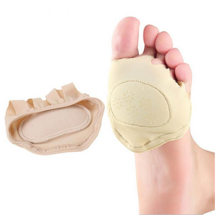 1Pair Newly Sweat Absorb Invisible Soft Foot Care Pad Women Forefoot Nursing Pad Open Toe Socks H7JP