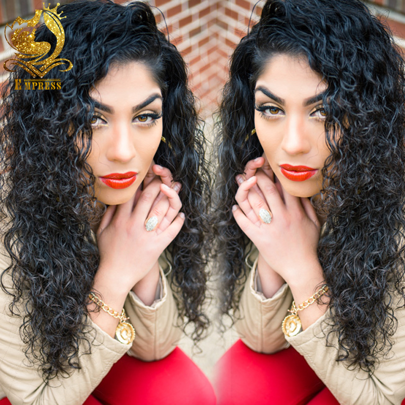 Malaysian Hair curly Lace Front Wig Full Lace Hair Wigs For Black Women 8-24 inch Full Lace Wig baby hair(China (Mainland))