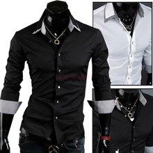 2015 New Spring Autumn Men Long Sleeve Slim Fit Shirt Casual New Designer Mens Fashion Luxury Shirts(China (Mainland))