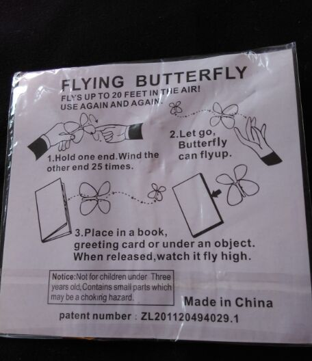 5pcs magic butterfly flying butterfly change with empty hands freedom butterfly magic props magic tricks free shipping