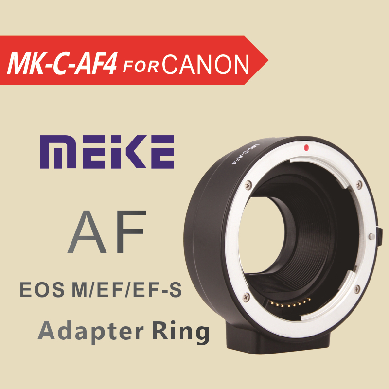 Meike Adapter Ring lens MK-C-AF4 Auto Focus for Canon EOS EF-S lens to eosM EF-M camera Mount(China (Mainland))