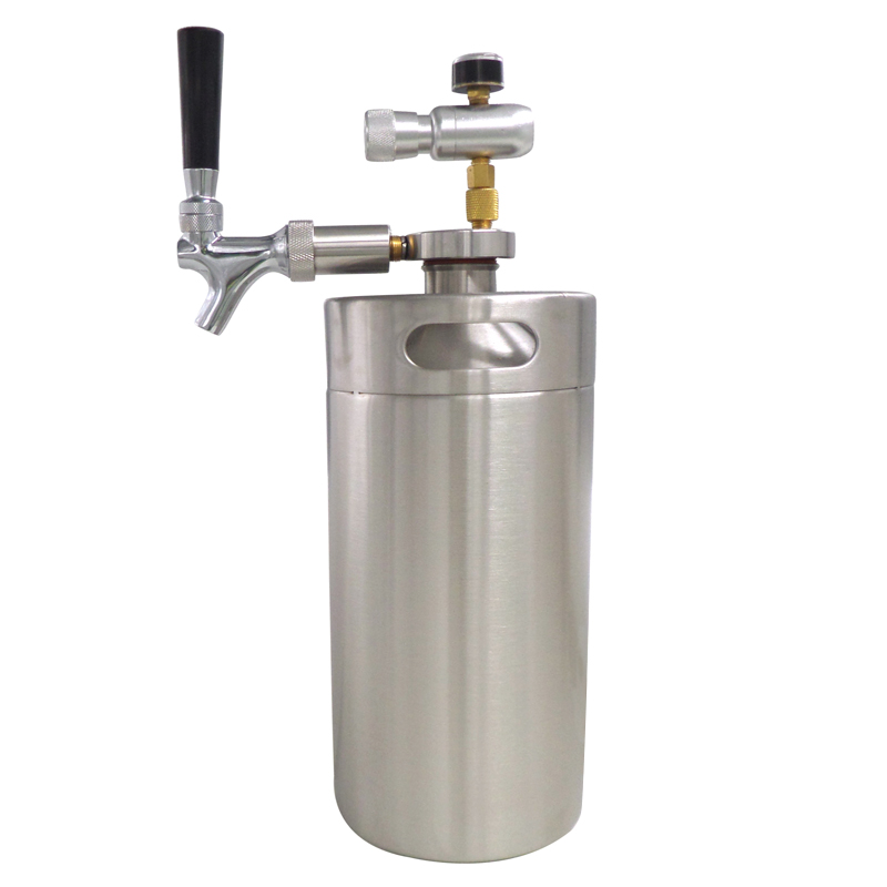 L mini growler spears Beer Spear with Tap Faucet with CO2 Injector ...