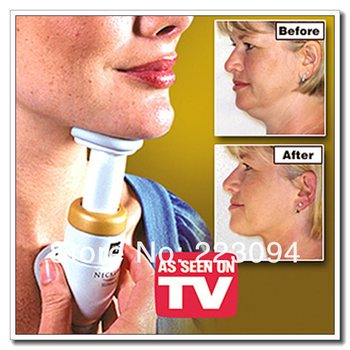 High quality AS SEEN ON TV Portable Neckline Slimmer Neck Exerciser Chin Massager Thin Jaw Reduce Double Thin , Dropshipping