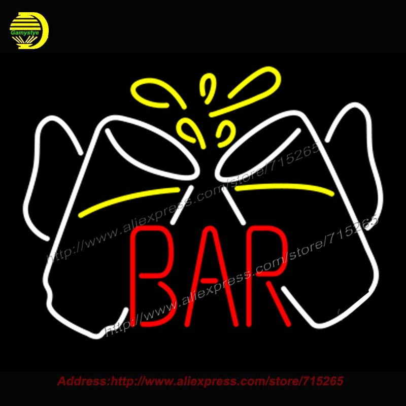 Bar Glasses Neon Sign neon light sign Real Neon Bulb Handcrafted Recreation Room Bar Pub Wall Iconic Sign Art Sign light 24×31