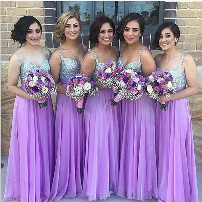 Under 100 purple bridesmaid dresses for wedding party for Long wedding dresses under 100