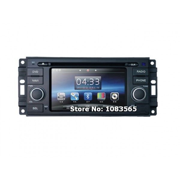 For JEEP Grand Cherokee 2008 - 2010 In Dash Navigation Car DVD Player With Radio Bluetooth TV WINCE 6.0 System(China (Mainland))