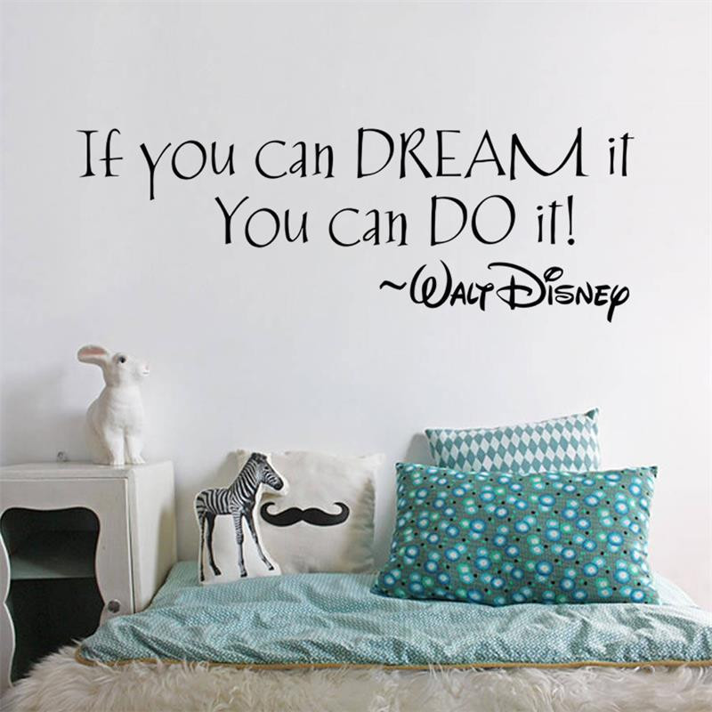 if you can dream it inspiring quotes wall mural for home bedroom