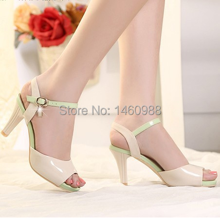 Fashion Summer Middle Heel Sandal Shoes for Lady<br><br>Aliexpress