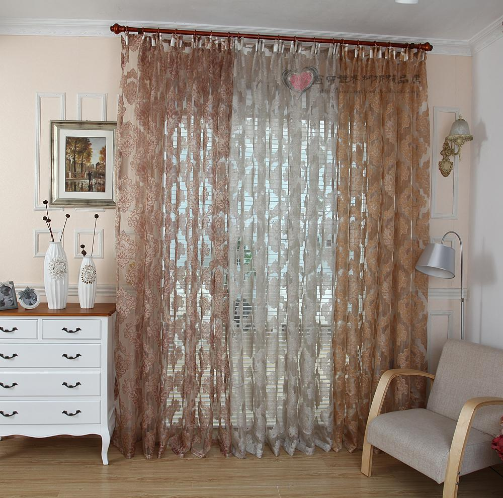 High quality modern decoration tulle window screening - Rideaux pour salon ...