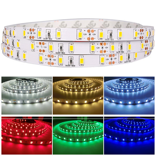 product  Super bright 5m 16.4ft 5630 SMD 12V 300 LED Strip Light Flexible Tape Rope Indoor Ribbon Non Waterproof Soft article lamp