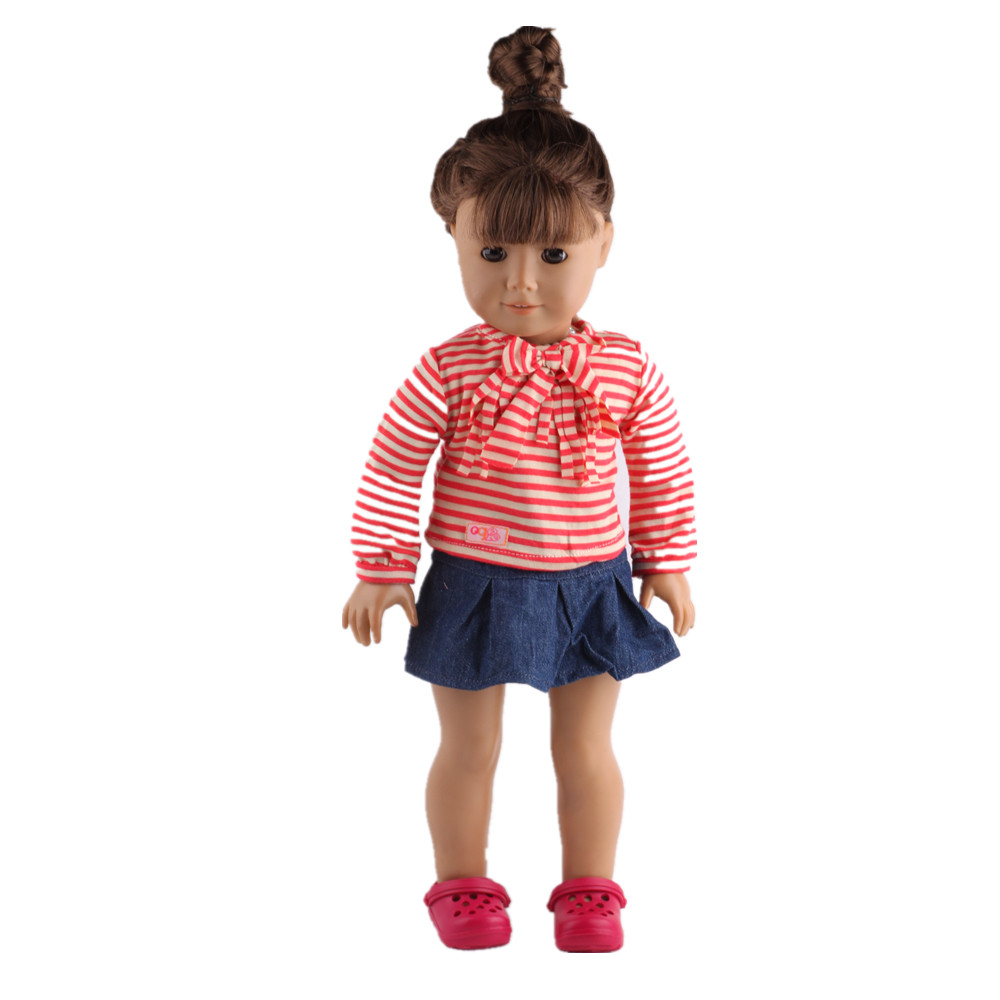 Doll Clothes fits 18 American Girl Handmade  Party Dress 18 inch doll clothes Free shipping B414<br><br>Aliexpress