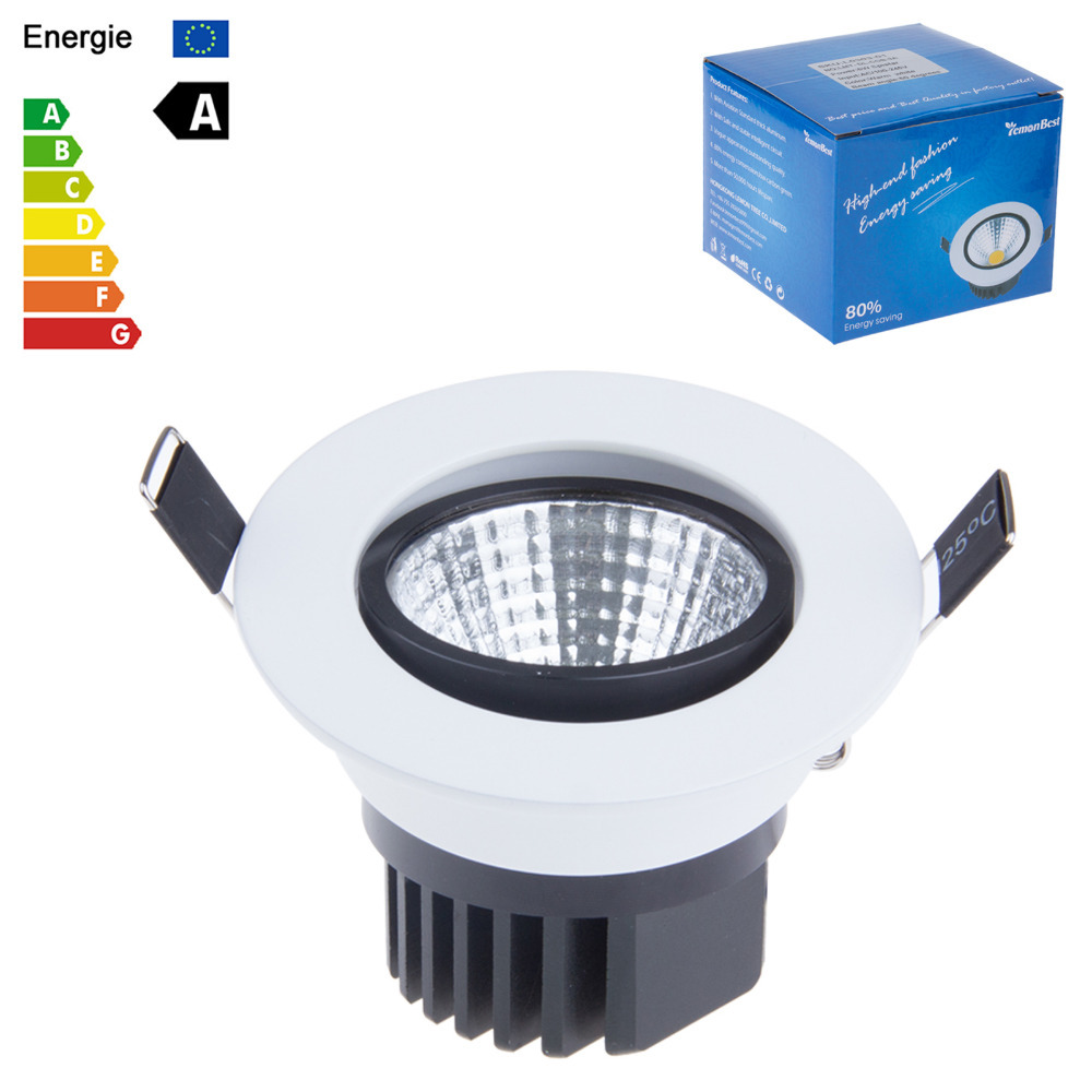 New Dimmable Recessed led downlight cob 3W 5W 7W 9W dimming LED Spot light led ceiling lamp110V 220V home luminaire IP44(China (Mainland))