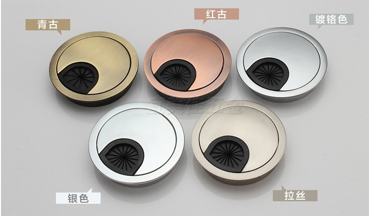 20pcs Dia.60mm Hardware Accessories Wire Hole Cover Office Furniture Computer Grommet Desk Table Cable Tidy Outlet Switch Plate(China (Mainland))