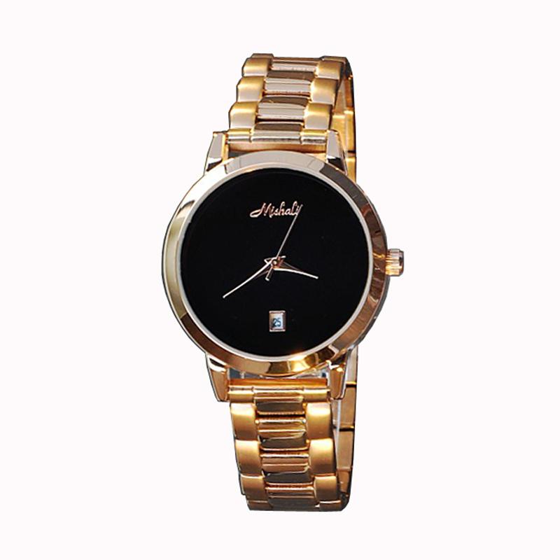 Mishali Wristwatches Quartz-Watches  Womens Watches Stainless Steel Bracelet   With Calendar Fashion High-Grade Rose Gold<br><br>Aliexpress