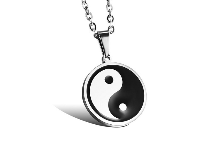 Quality Classical High Women Men Necklaces Fashion Stainless Steel Link Chain New Tai Chi Pendant gift Jewelry(China (Mainland))