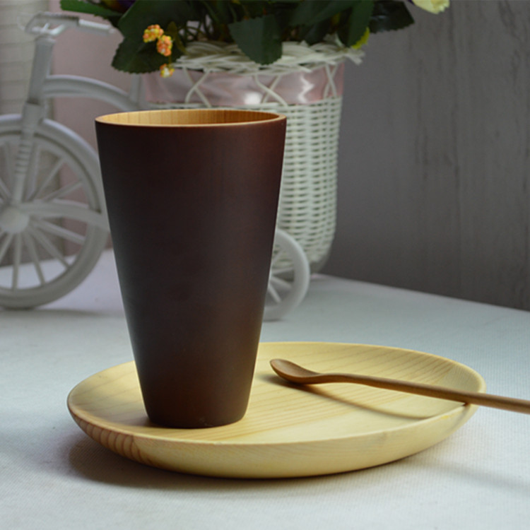 Free Shipping Japanese coffee cup Top Grade tea Mugs Water Container wood Cups Creative gift(China (Mainland))