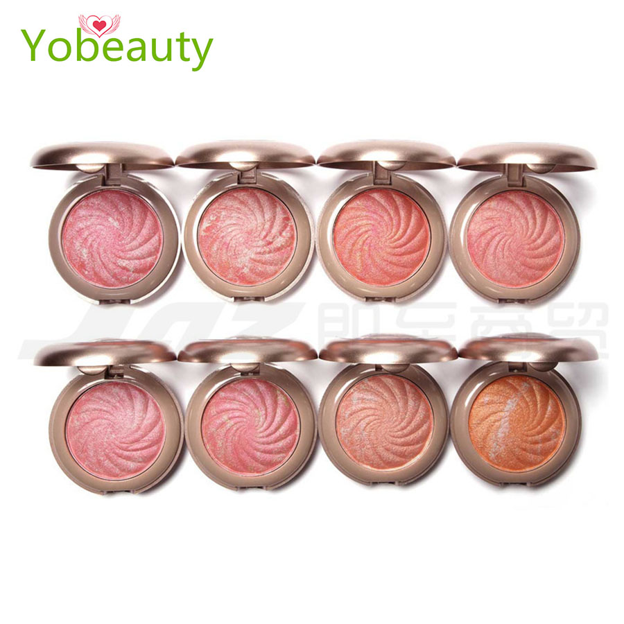 Hot style 8 colors flower Makeup Baking blush palette makeup mineralize blush Baked Cheek Color Blusher Palette Petal Face Power(China (Mainland))