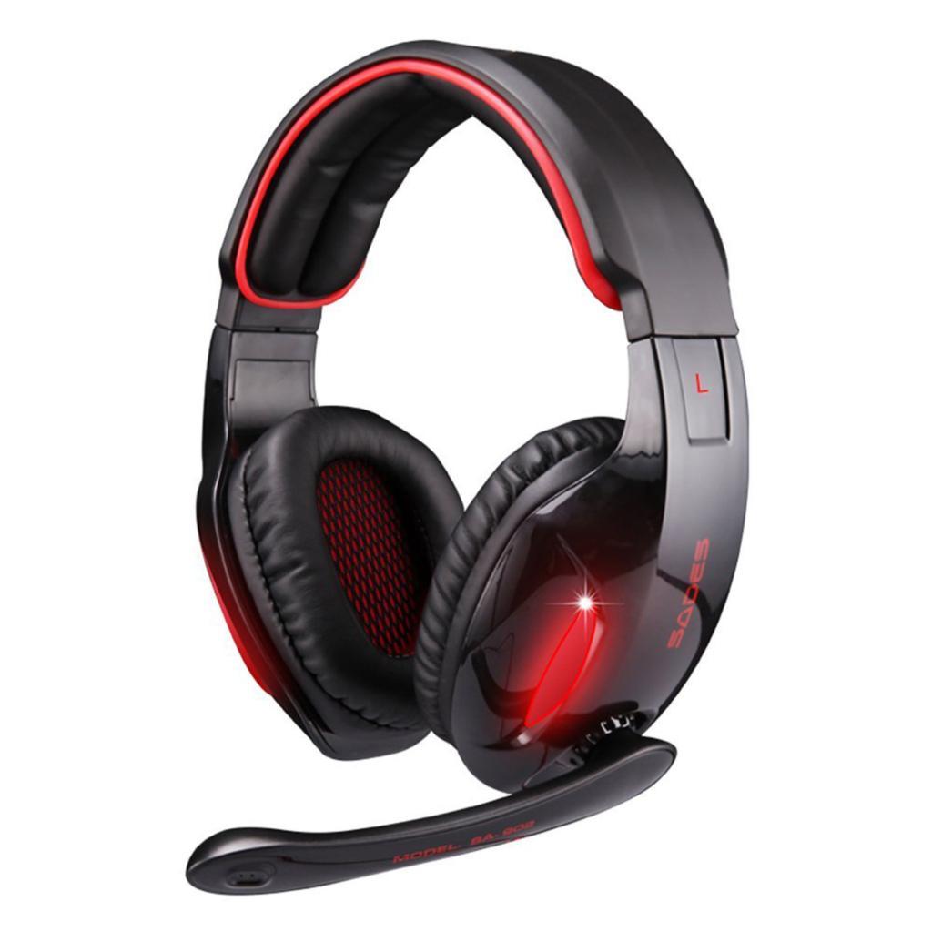 Original Sades SA-902 7.1 Surround Sound Effect USB Gaming Stereo Headset Headphone with Mic(China (Mainland))