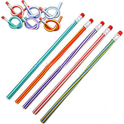 Купить Офисные и Школьные принадлежности  Soft Pencil Colorful Magic Flexible Bendy Pencil for Kids Student School Office Use Free Shipping  None