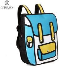 2016 New Arrival Boys & Girls 3D Comic School Bags Children Cartoon Creative Backpacks Kids Korean Style School Bags , LI033(China (Mainland))