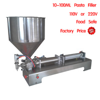 Pneumatic filling machine bottle piston filler paste cream bottling equipment food grade stainless hopper 30 fast ship 10-100ml