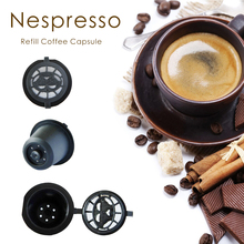 3 cups / pack Nespresso Refillable Coffee Capsule Cup Reusable Refilling 150 times for Nespresso machine not for Dolce Gusto(China (Mainland))