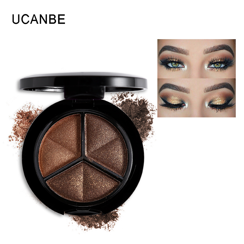 UCANBE Makeup Naked Eyehsadow Palette 3 Colors Smoky Cosmetic Set Professional Natural Matte Eye Shadow Make Glitter - Comestics Store store
