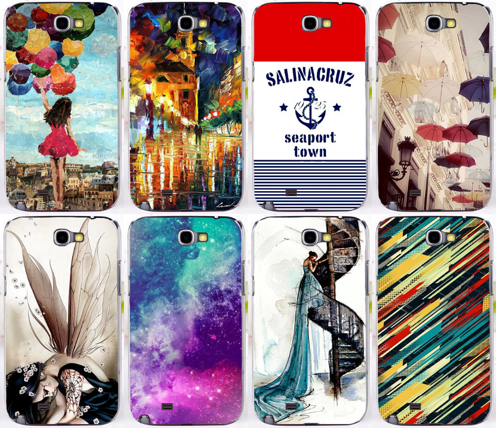Multi Styles Dreamcatcher Telephone Booth Letters Series Hard cell phone cases For Samsung galaxy Note 2 II N7100 note2(China (Mainland))