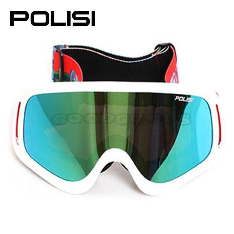 Free Shipping P818-WH New POLISI Ski Outdoor Sports Snowboard Skate Glasses Eyewear UV400 Anti-Impact Motocross Off-Road Goggles<br><br>Aliexpress