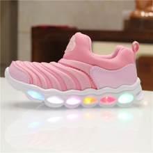 בני Sneaker בנות קריקטורה נעלי ילדים באיכות גבוהה Led נעליים עם אורות Sneaker 2019 אביב סתיו ילדים פעוט תינוק נעליים(China)