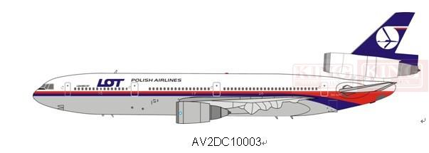 AV2D10003 Aviation Malaysia Airlines DC-10-30 9M-MAT LOT commercial jetliners plane model hobby(China (Mainland))