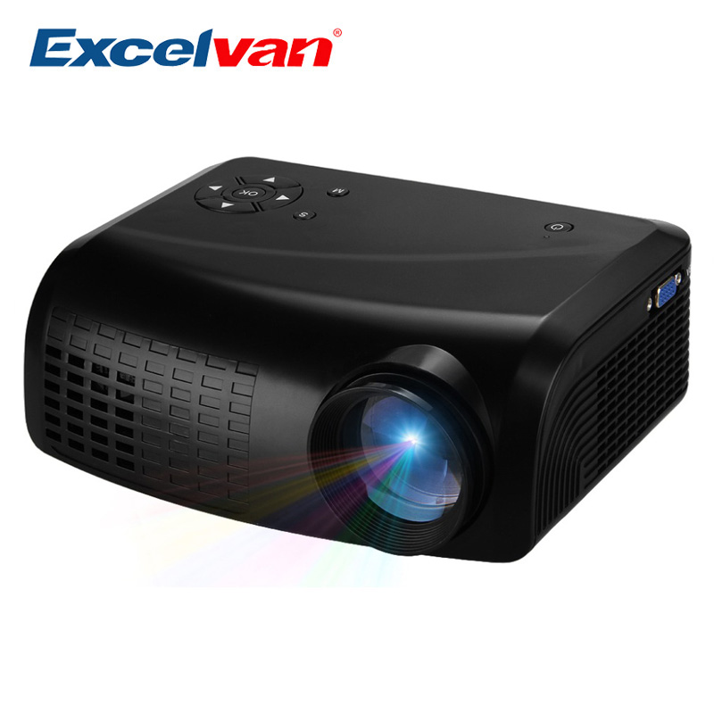 Excelvan e07 mini led lcd projector home theater av usb for Mini lcd projector