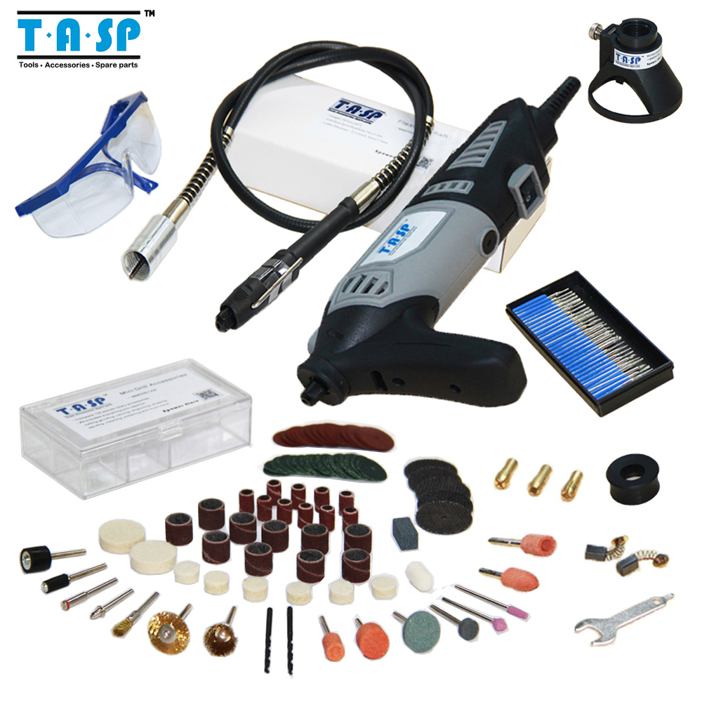 170W Variable Speed Dremel Rotary Tool Electric Mini Drill with Flexible Shaft and 140pcs Accessories Free