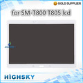 1 piece free shipping tested white black replacement assembly display for Samsung galaxy tab s 10