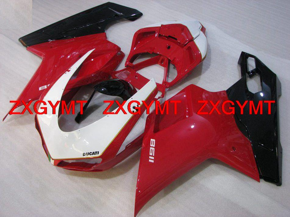 Fairing Kits 1198 2007 Black White Red Injection moulding Fairing Kits for DUCATI 1098 2009 year: 07-11 ZXGYMT(China (Mainland))