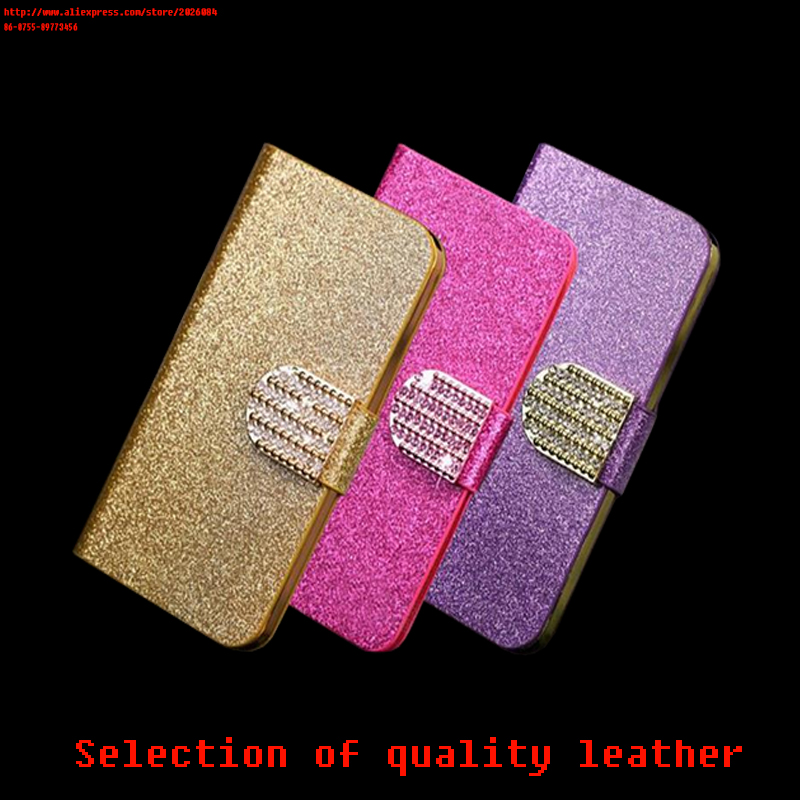 Luxury Glitter Diamond PU Wallet Leather Case For Apple 6 G6 Cover For Iphone 6 G6 Flip Buckle Stand Card Holder(China (Mainland))