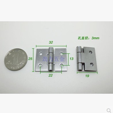 20pcs/lot 25*32mm Stianless Steel door Hinge Gift Box Jewelry Ring Packaging Small Parts(China (Mainland))