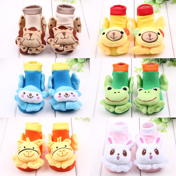 baby socks cartoon anti slip 3d socks baby girl cotton toddler bell socks infant  boy animal sokken new born meias chaussette