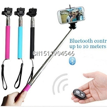 New Hot Sale Telescopic Selfie Jack Wired Bluetooth Remote Selfie Handheld Monopod Stick Phone for iPhone Android Free Ship