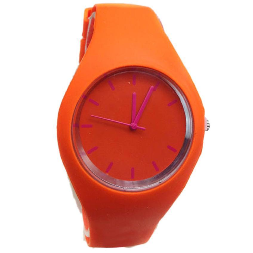 Delicate Casual New Silicone Watches Fashion Sports Outdoor Silicone Unisex Candy-Color Watch nor5824<br><br>Aliexpress