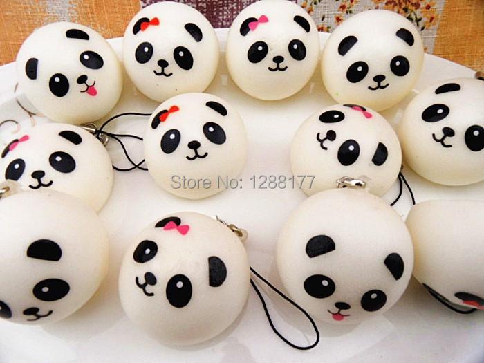 10cm Kawaii Panda Jumbo Squishies Bun Mobile Phone Straps Rare Squishy Bread Bag Charm-in Mobile ...