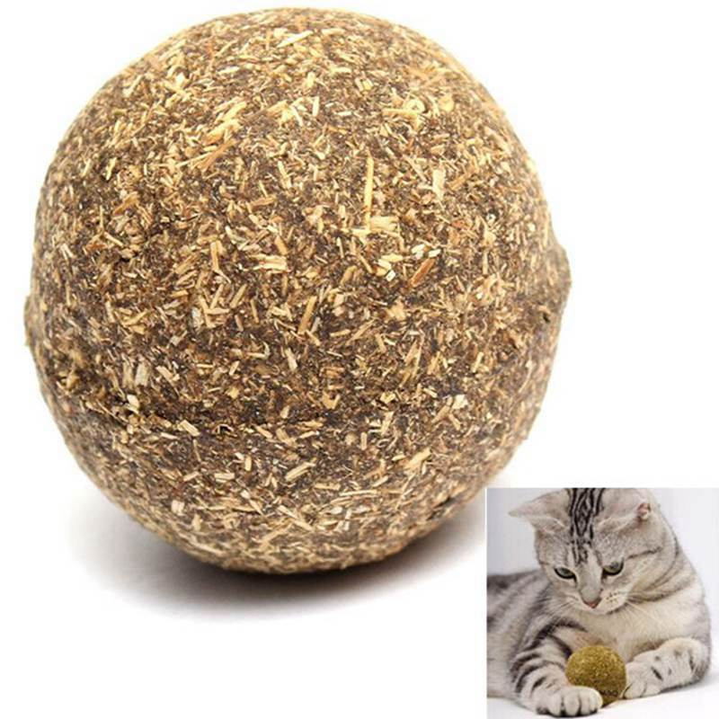 Гаджет  1 PCS Pet C-at Natural Catnip Treat Ball Favor Home Chasing Toys Healthy Safe Edible Treating None Дом и Сад
