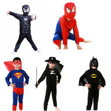 100 sets/lot Children Superhero Costume for Halloween