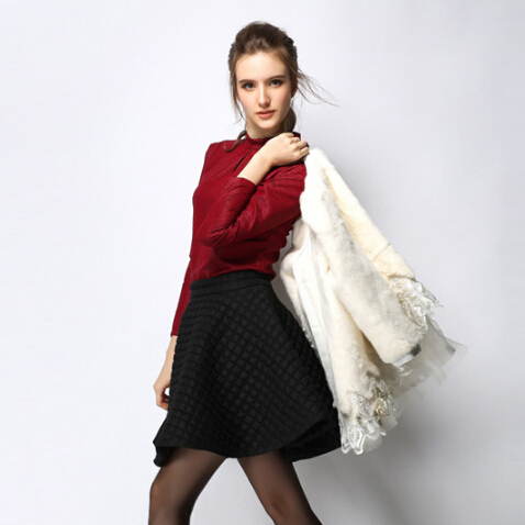 Women Winter Fashion Style Skirts Ladies Knee-Length Coat Solid Umbrella Clothing Girls High Waist Casual Skirt Free Shipping250Одежда и ак�е��уары<br><br><br>Aliexpress